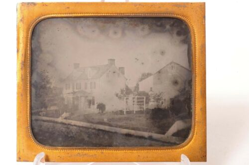 F33106~ Outdoor Ambrotype - Homestead House & Barn – ½ Case – Central PA