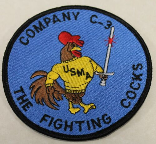 West Point C-3 Company Game Cocks US Military Academy Army Jacket Patch
