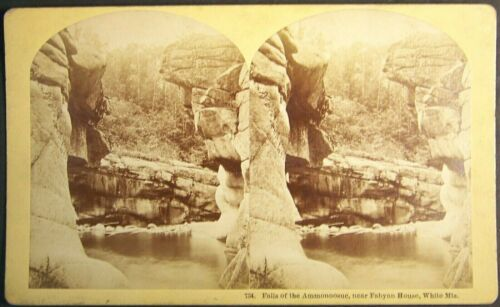 White Mountains, Falls of the Ammonoosuc, New Hampshire,dry season, oversize