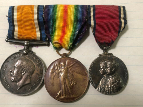 WW1 MEDAL PAIR WITH GEORGE V JUBILEE MEDAL TO OFFICER1914 - 1918 (WWI) - 13962