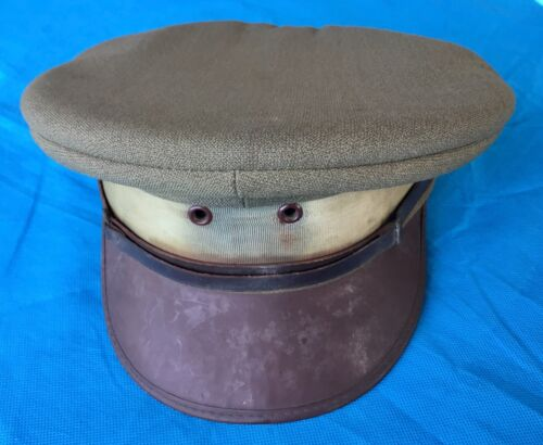 Australian Post WWII, Officers  Peaked Cap, No marks, Mini name inside1939 - 1945 (WWII) - 13977
