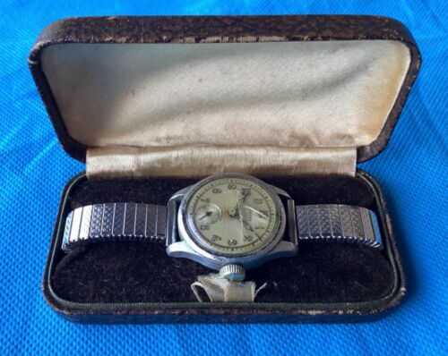 Australian WWII,1940 engraved AIF Named, Sgt L.C.Doust LAVINA men's watch & Box.1939 - 1945 (WWII) - 13977