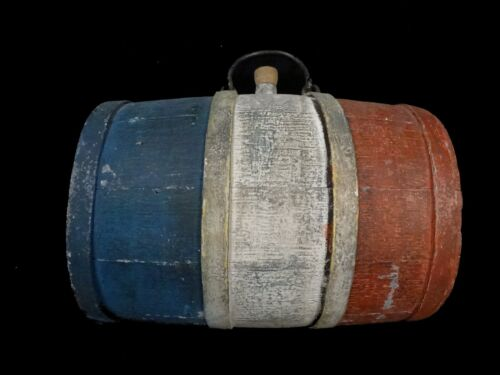 """French Second Empire Military Wooden Canteen """"cantiniere / brancardier"""" 19th COriginal Period Items - 4070"""
