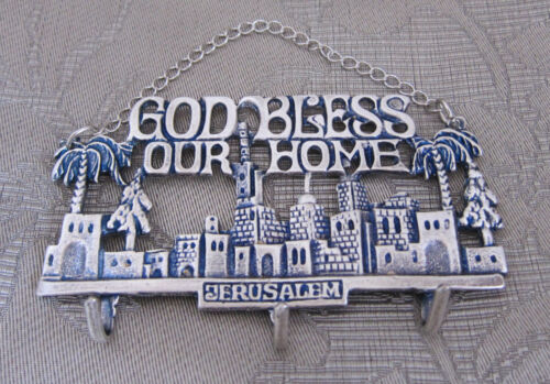 """KEY HANGER  """"GOD BLESS OUR HOME"""" COLLECTIBLE GIFT ITEM FROM JERUSALEM"""
