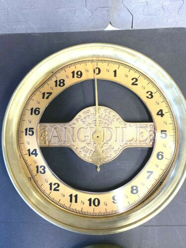 REPRODUCTION ANGLDILE CHART & BRASS RINGS FOR FRONT GLASS