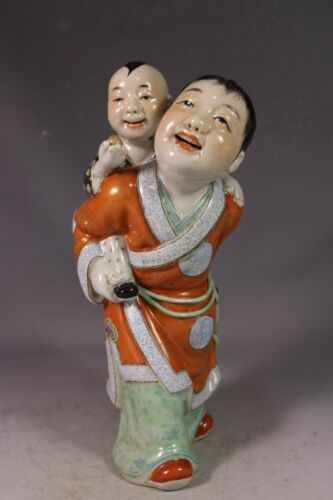 beautiful chinese famille rose porcelain brothers