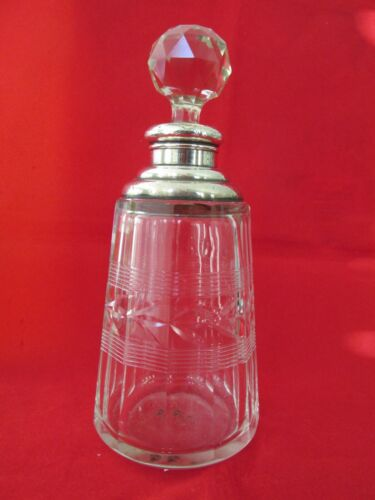 Antique Sterling Silver Scent / Perfume Bottle Henry Perkins $ Sons AS IS