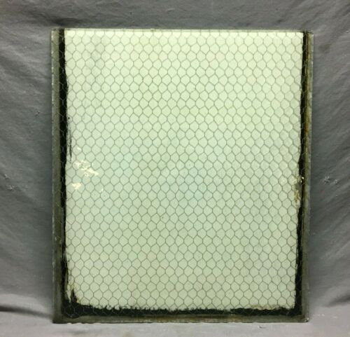1 Piece Vintage 24X27 Industrial Chicken Wire Safety Security Glass Old 678-21B