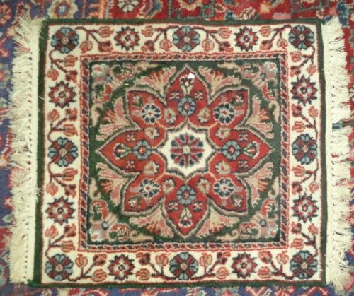 """fine  hand knotted oriental rug 23 1/2"""" x 29"""""""