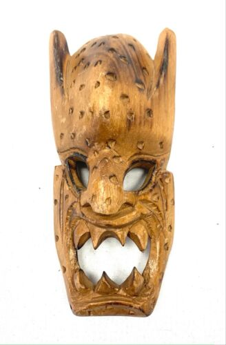 Small Mask Wooden Fighter Aggressive