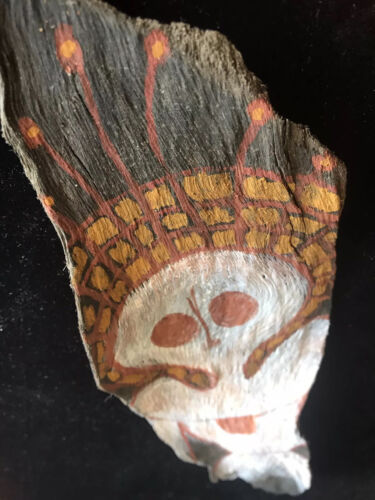 Aboriginal : Old Bark with  earth pigment image