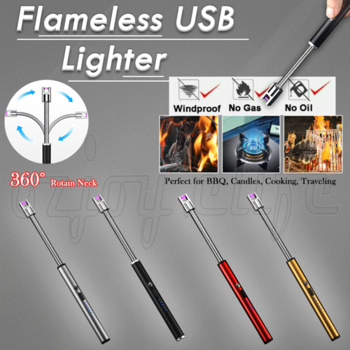 ARC Flameless USB Lighter BBQ Windproof Portable Kitchen Candle Rechargeable OZ