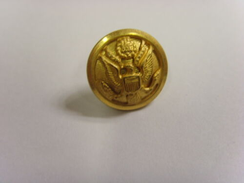 vintage usa great seal gold tone metal picture button city button works 49258
