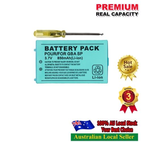 Battery for Nintend Game Boy Advance SP Systems with Screwdriver lithium battery
