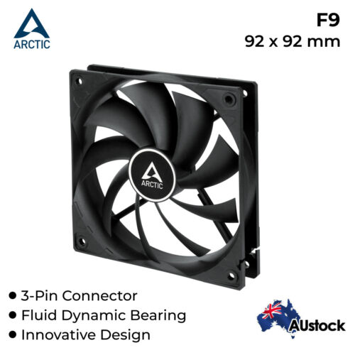 92mm Computer Pc Case Fan Silent Fan Cooler Cooling Arctic Cooling 3-Pin White