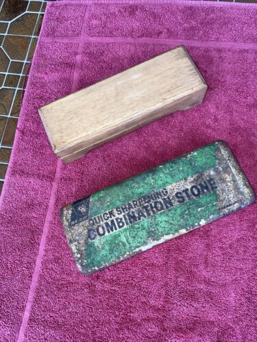 Oil  Combination Bench Sharpening Stones Carpenter's Tool Collectables