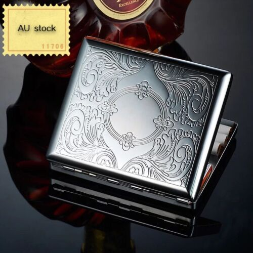 Cigarette Case stainless Steel Hold Cigarettes AU Stock
