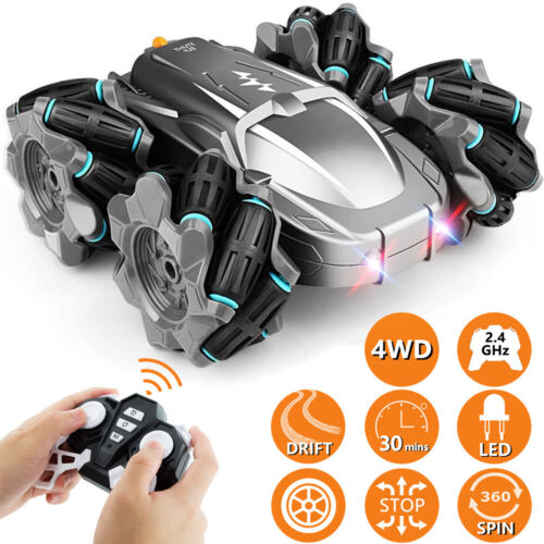 RC Cars 4WD Remote Control Car Stunt 360° Rotating High Speed Kid Off-road Truck