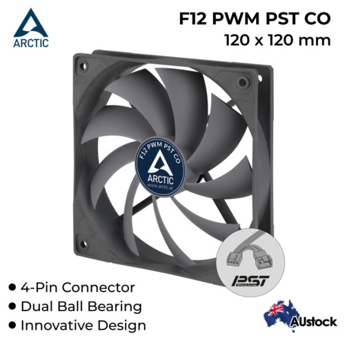 PC Case Fan 4-Pin 12V 120mm Continuous Operation Arctic Cooling F12 PWM PST CO