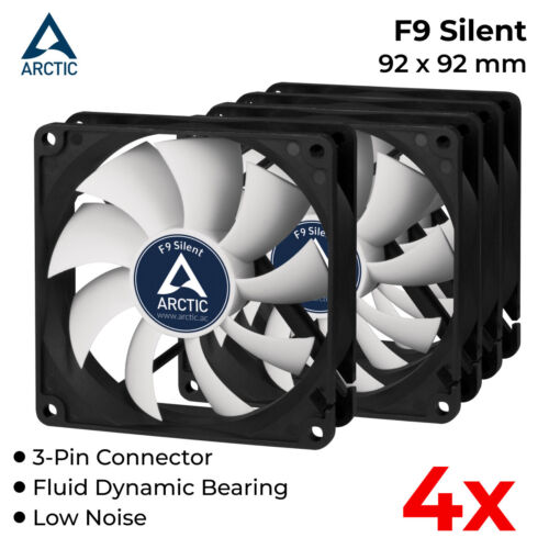 4x 92mm Case Fan Silent Fan for Computer PC Case Cooling Cooler Ultra Quiet 3pin