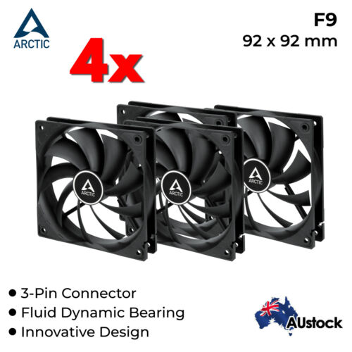 4x 92mm Quiet Fan Silent Fan for Computer Case 12V DC 3Pin Cooling Cooler Arctic