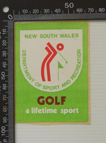 VINTAGE NSW DEPARTMENT OF SPORT AND RECREATION GOLF PROMO ADVERTISING STICKER