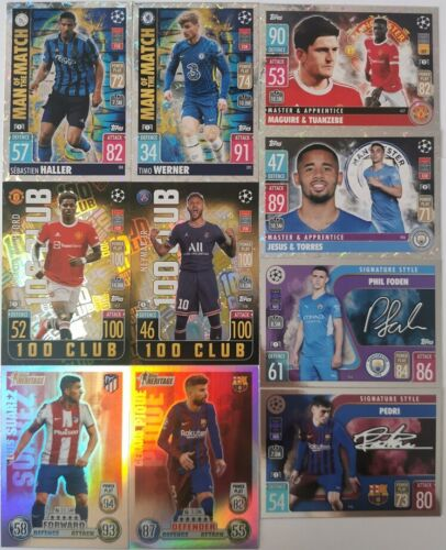 TOPPS MATCH ATTAX 2021-22 FOIL CARDS 388-491   5+5 FREE !!!