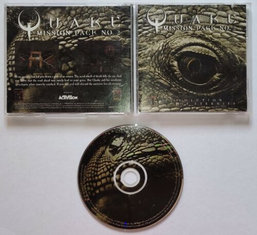 VINTAGE Quake Mission Pack 2: Dissolution of Eternity (PC, 1997) Video Game ORIG