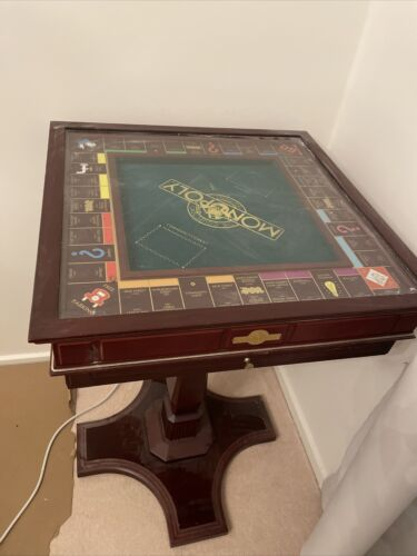 FRANKLIN MINT MONOPOLY DELUXE COLLECTORS EDITION 1991 XLNT GLASS LID Table Only