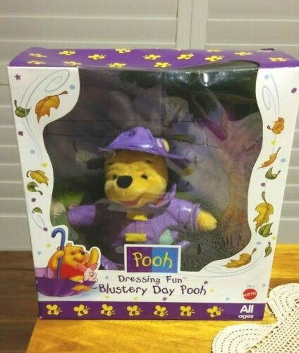 Mattel - Winnie the Pooh - Dressing Fun-Blustery Day Pooh-New in Box-1998