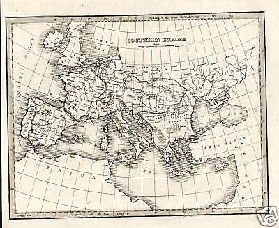 Italy, Southern, Europe, Mediterranean, Vintage, 1835 Original, Antique, Map,