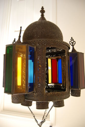 OLD ANTIQUE LANTERN VINTAGE OIL KEROSENE ISLAMIC HANGING GWTW LAMP CHANDELIER
