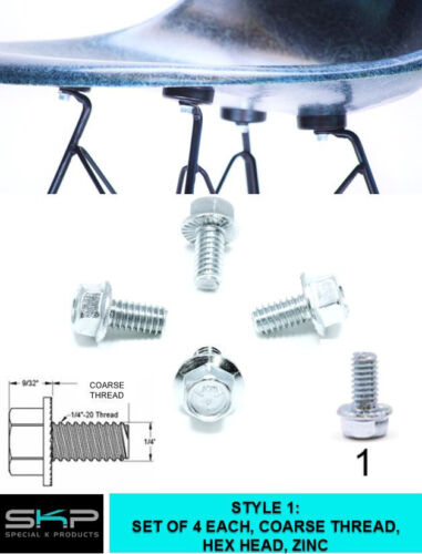 BOLTS SCREWS FOR EAMES, HERMAN MILLER PARTS SHELL CHAIR BOLTS COARSE THREAD
