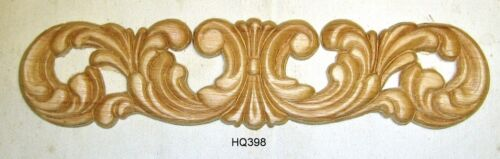 "WOOD EMBOSSED APPLIQUE 2 3/4"" X 11 1/2 HQ398"