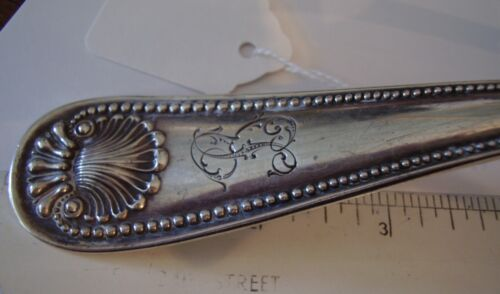 """127g Ladle 1880 Bead WHITING Gorham 11"""" serving Spoon STERLING SILVER"""