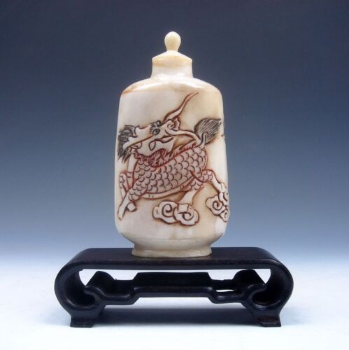 Highly Detailed Hand Crafted Monster Kylin, Mountain, Bird Snuff Bottle