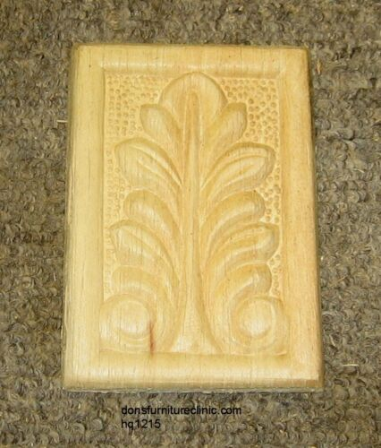 "WOOD EMBOSSED APPLIQUE 4 1/8"" X 3""  HQ1215"