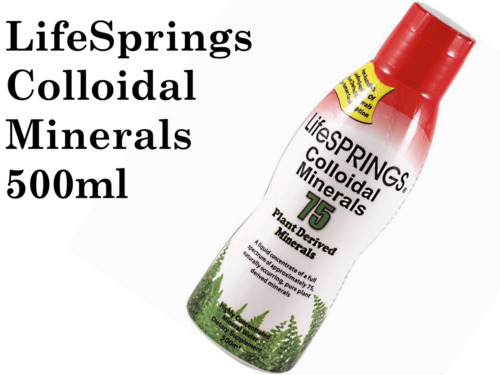 LIFESPRINGS COLLOIDAL Minerals 75 Plant Derived 500ml