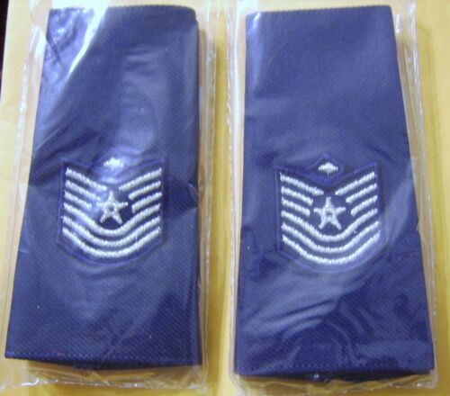 USAF MASTER SERGEANT WITH 1st SERGEANT DEVICE SHOULDER MARK BOARDS CLOTH:OH11-1Other Militaria - 135