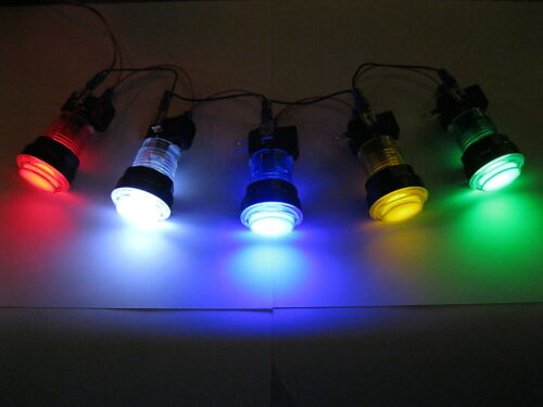NEW LED lit Arcade Push Button Mame Multicade Choice of 5 Colors