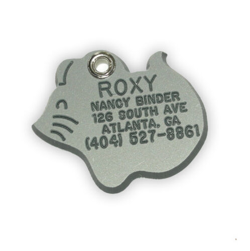 Small Mouse Shaped Pet ID Tag Custom Engraved Personalized Free Shipping.