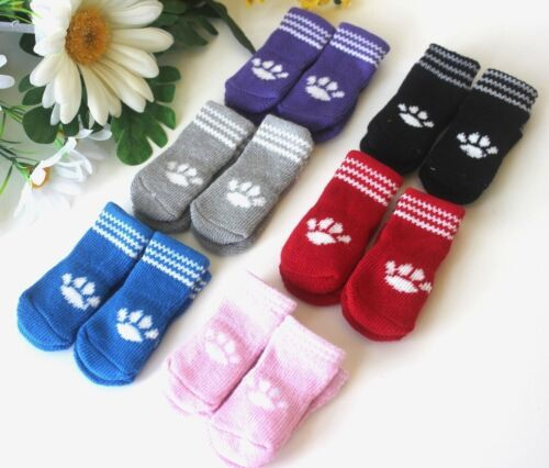 USA SELLER Non Slip Grip Dog Cat Socks Skid - Free for Small Breed size S, M, L