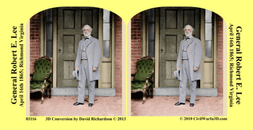 General Robert E. Lee Civil Confederate War SV Stereoview Stereocard 3D 03116