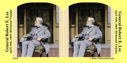 General Robert E. Lee Confederate Civil War SV Stereoview Stereocard 3D 23115