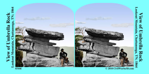 Lookout Mountain Chattanooga TN Civil War SV Stereoview Stereocard 3D