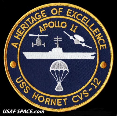 "APOLLO 11 RECOVERY SHIP - USS HORNET CVS-12 - A HERITAGE OF EXCELLENCE  5"" PATCHApollo - 13903"