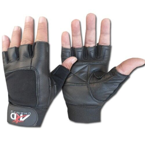 Leather Weight Lifting Gloves Long Wrist Wrap Exercise Training Gym,Club S-XXL