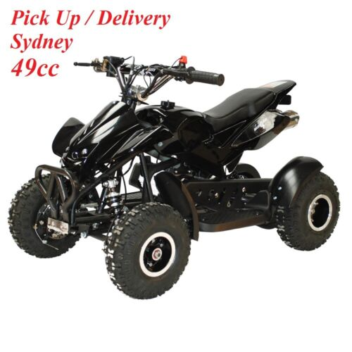 New 49cc Mini ATV Quad Bike Kids 4 Wheeler Dirt Buggy Mud Pocket Pink Black Blue <br/> SYDNEY - SPEED LIMITER + GEARBOX REDUCTION