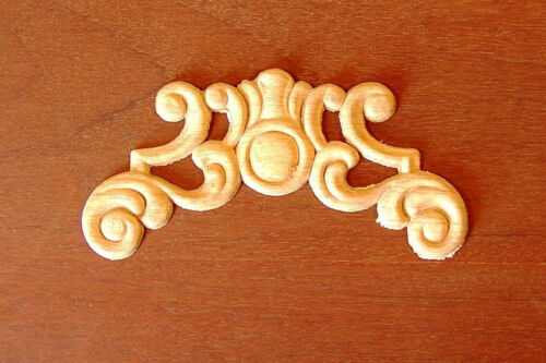 "WOOD EMBOSSED APPLIQUE 6"" X 3""  HQ 079"