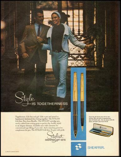 1966 Vintage ad for SHEAFFER Pens Sets/Pair of Pens in Ad/ (041313)